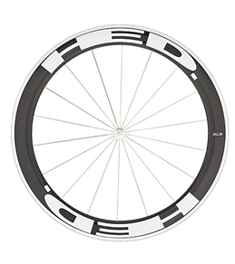 HED Jet 6 Flamme Rouge Front Wheel 700c Clincher 23mm x 60mm, SCT Carbon