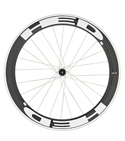 HED Jet 6 Flamme Rouge Rear Wheel 700c Clincher 23mm x 60mm, SCT Carbon