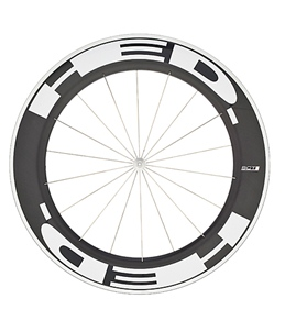 HED Jet 9 Flamme Rouge Front Wheel 700c Clincher 23mm x 90mm, SCT Carbon