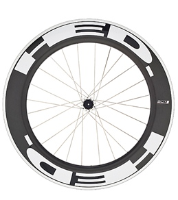 HED Jet 9 Flamme Rouge Rear Wheel 700c Clincher 23mm x 90mm, SCT Carbon