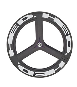 HED H3 Flamme Rouge Front Wheel 700c Clincher 23mm x 50mm, SCT Carbon