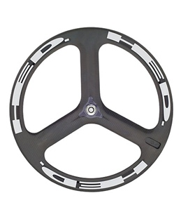 HED H3 Flamme Rouge Front Wheel 700c Tubular 23mm x 50mm, SCT Carbon