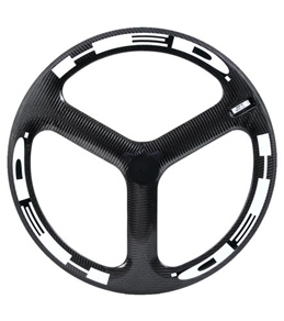HED H3 Flamme Rouge Rear Wheel 700c Tubular 23mm x 50mm, SCT Carbon