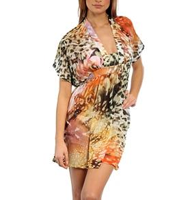 J.Valdi Digital Prints Kimono Sleeve Dress