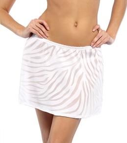 "J.Valdi Animal Skin Burnout 14"" Short Skirt"