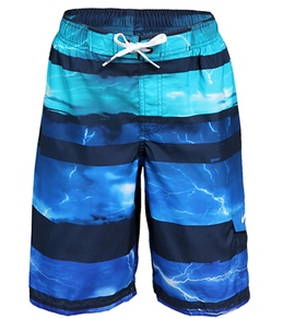 Nike Swim Boys' Lightning Stripe Volley Boardshort