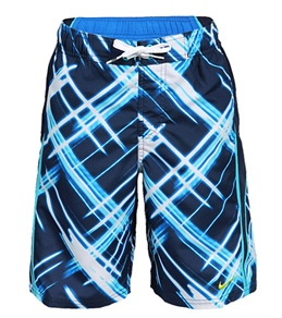 Nike Swim Boys' Laser Plaid Splice Volley Boardshort