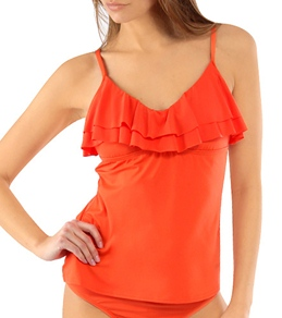 Kenneth Cole Ruffle-Licious Tankini Top