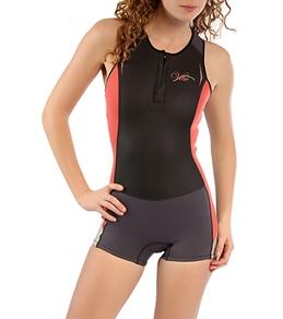 Body Glove Women's Vibe Front Zip Racerback Springsuit
