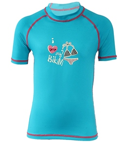 Beach Rays Girls' I Love Bikini Rash Guard