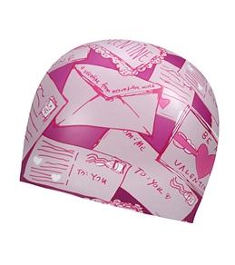 Sporti Love Letters Silicone Swim Cap