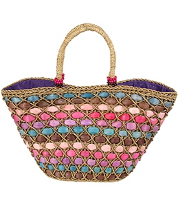 Sun N Sand Sea Daze Straw Shoulder Tote