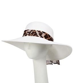 Sun N Sand Ambrosia Animal Scarf Straw Hat