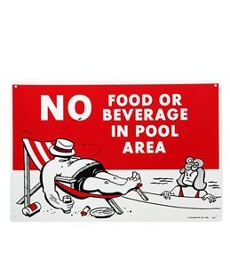 "Poolmaster ""No Food Or Beverage"" 18"" x 12"" Sign"