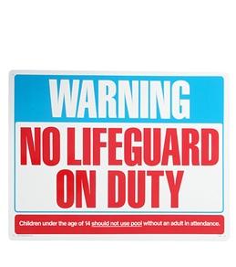 "Poolmaster ""Warning No Lifeguard"" 24"" X 18"" Sign"