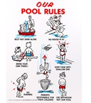 Poolmaster Our Pool Rules 18 X 24 Sign