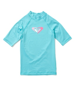 Roxy Youth Girls' 2 Of Hearts S/S Rashguard