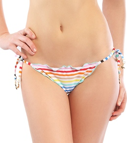 Modern Amusement Rainbow Stripe Skimpy Ripple Tie Side Bottom