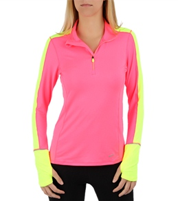Brooks Women's Nightlife Essential Long Sleeve Running 1/2 Zip