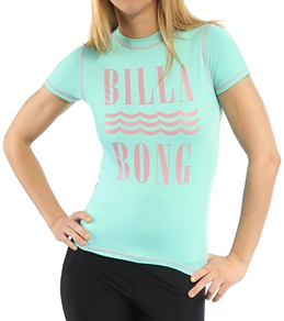 Billabong Girls' Meg S/S Rash Guard