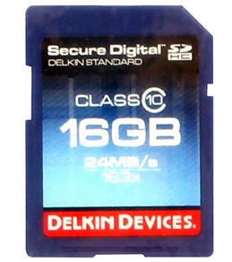 Delkin Devices 16GB Pro Class 10 SDHC Memory Card