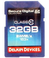 Delkin Devices 32GB Pro Class 10 SDHC Memory Card
