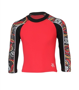 Tuga Boys' Tube Tiki Toss L/S Rash Guard