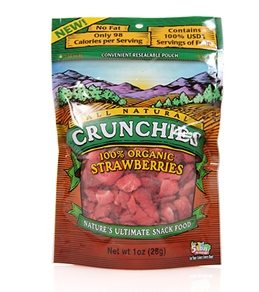 Crunchies Organic Strawberry Freeze Dried Snacks