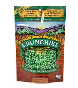 Crunchies Organic Sweet Peas Freeze Dried Snacks