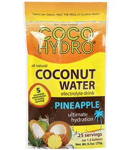 CocoHydro Pineapple Coconut Water Electrolyte Drink Mix 9.7oz