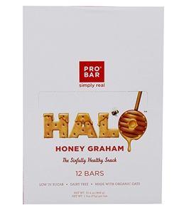 PROBAR HALO Organic Honey Graham Snack Bars (Box of 12)