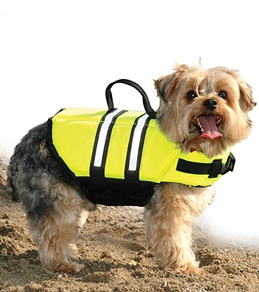 Paws Aboard Safety Neon Yellow Doggy Life Jacket XXS-S