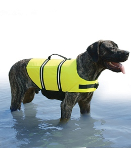 Paws Aboard Safety Neon Yellow Doggy Life Jacket M-XL