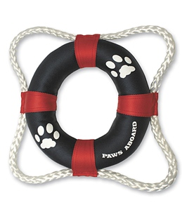 Paws Aboard Dogs' Life Ring Toy