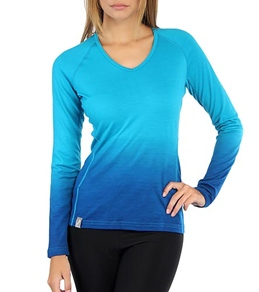 Icebreaker Women's Oasis V Dusk Long Sleeve Running Top