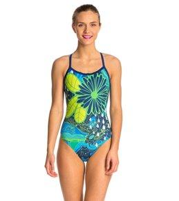Hardcore Swim Women's Topography X-Back One Piece Swimsuit