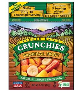 Crunchies Tropical Fruit Freeze-Dried Snacks