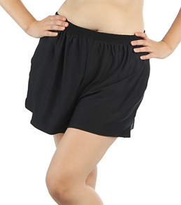 Coco Reef Plus Size Solid Pull On Swim Shorts
