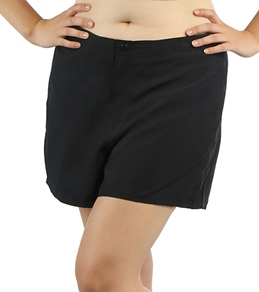 Coco Reef Plus Size Solid Woven Board Shorts