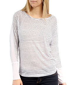 Hurley Girls' Featherweights Mesh L/S Top