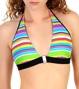 Puma Swim Retro Active Stripe Halter Top