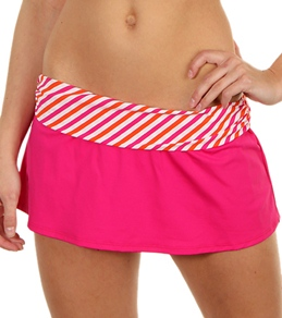 Ralph Lauren Shore Club Stripe Shirred Band Skirted Hipster Bottom