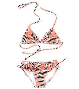 Roxy Kids' Seashore Party Tiki Triangle Bikini Set (7-16)