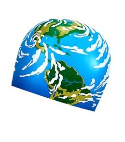 Sporti Globe Silicone Swim Cap