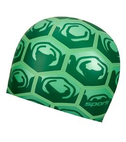 Sporti Turtle Shell Silicone Swim Cap