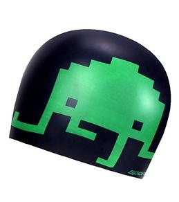 Sporti 8 Bit Silicone Swim Cap
