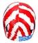 Sporti USA Victory Lanes Silicone Swim Cap