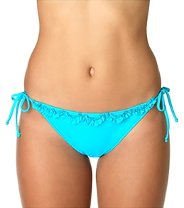 Sunsets Solid Ruffle Tie Side Bottom