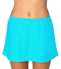 Sunsets Solid Sky Swim Skirt Bottom