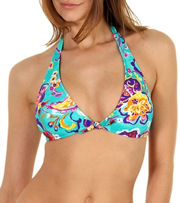 Ralph Lauren Painted Paisley Tie Back Halter Top